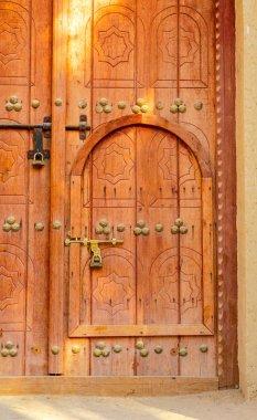 Traditional Arabian Door Within a Door