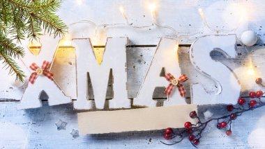 Christmas holidays ornament on white background