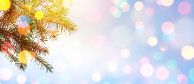 Christmas tree; Holidays background with Xmas holidays light