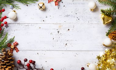 Christmas holidays background with Christmas holidays ornament o