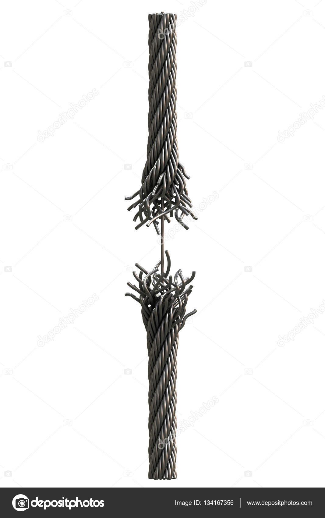 Ripped steel rope — Stock Photo © zhevelev #134167356