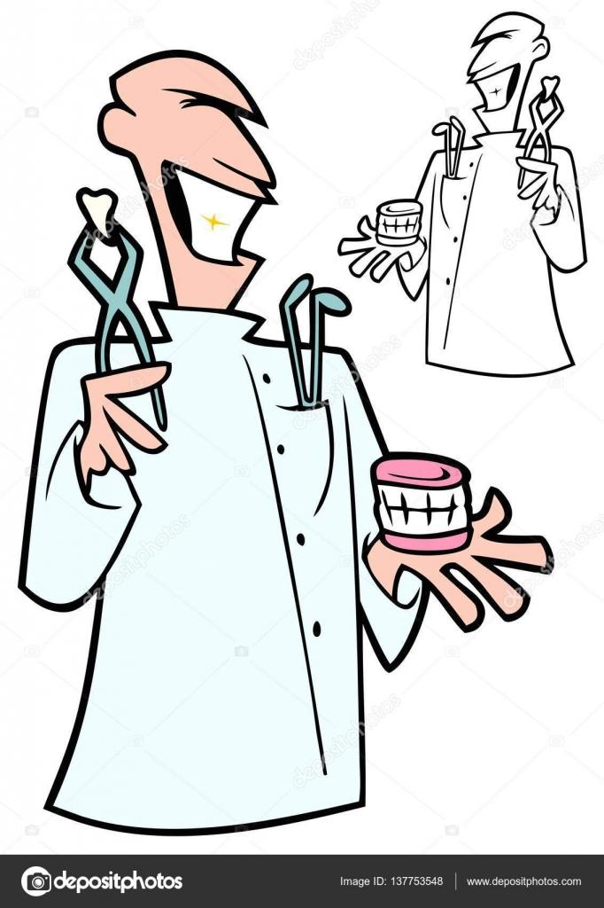 Imágenes: dibujo de dentista para colorear   Dentista con las ...