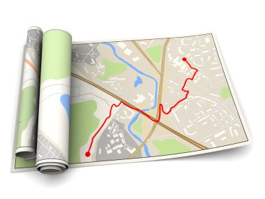 Map with red route
