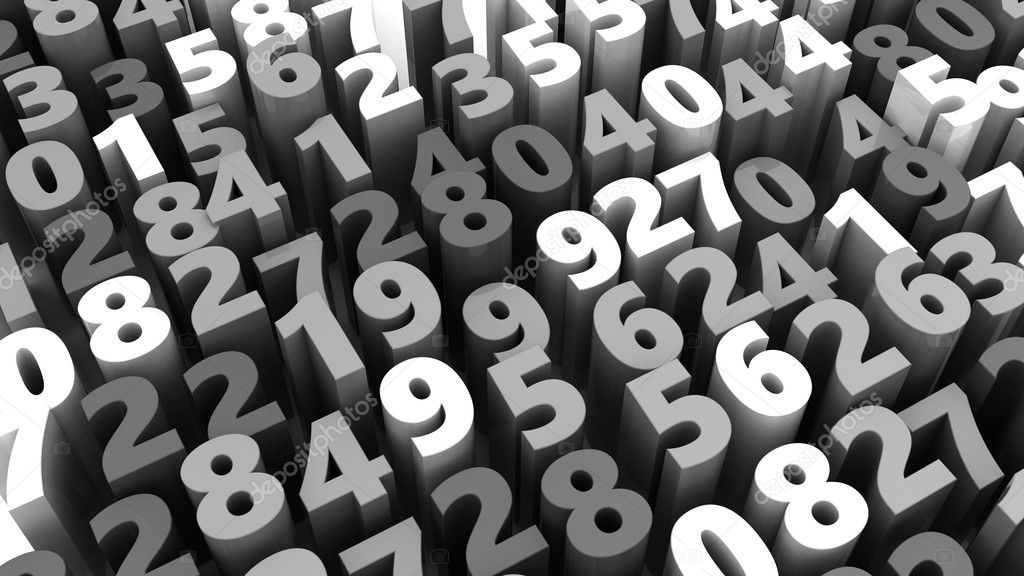 Random numbers background ⬇ Stock Photo, Image by © mmaxer #126584852