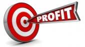 arrow with sign profit target