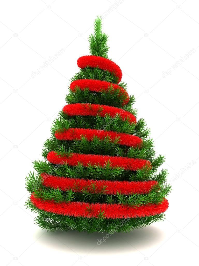rbol de Navidad 3D Fotos de Stock mmaxer 129020280