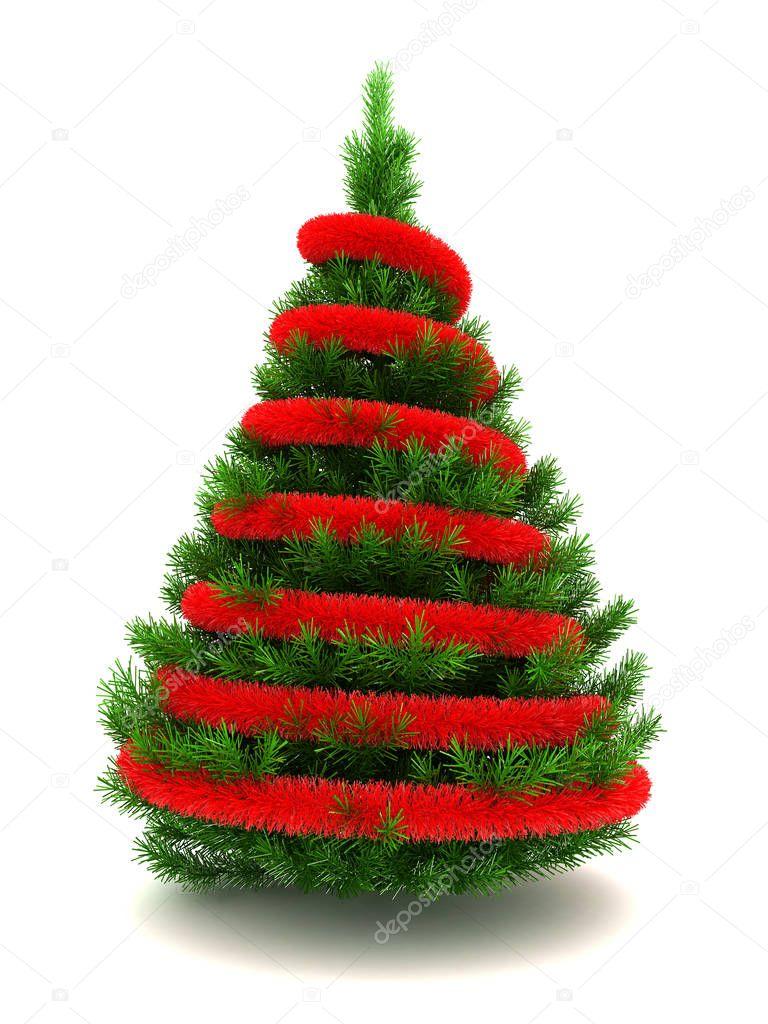 3d Kerstboom Stockfoto C Mmaxer 129020280
