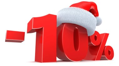 Christmas sale 10 percent sign