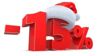 Christmas sale 15 percent