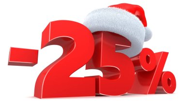 Christmas discount 25 percent