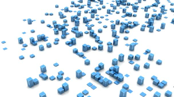 Mapa světa z modré bloky