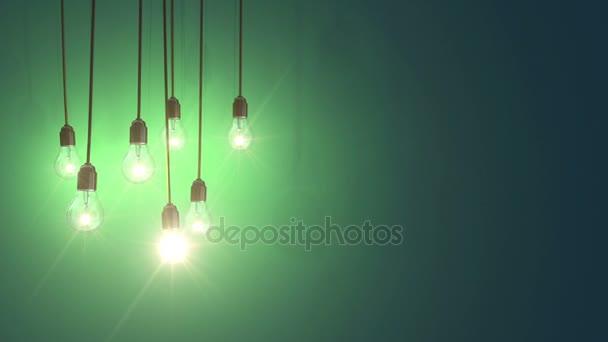 žárovky nad modrá