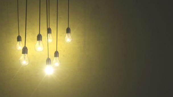 light bulbs over concrete wall