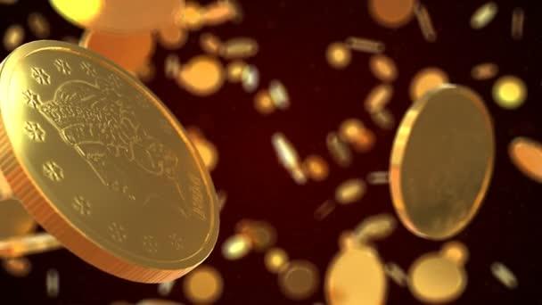 animáció a spinning érmék