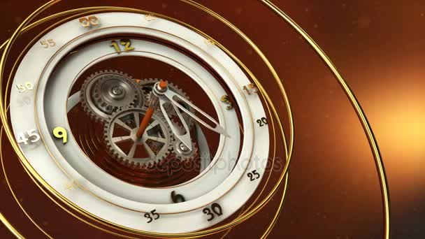 clock and dust particles