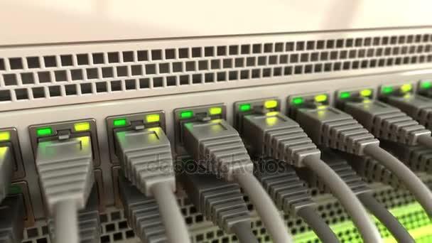 Netzwerkkabel im Server
