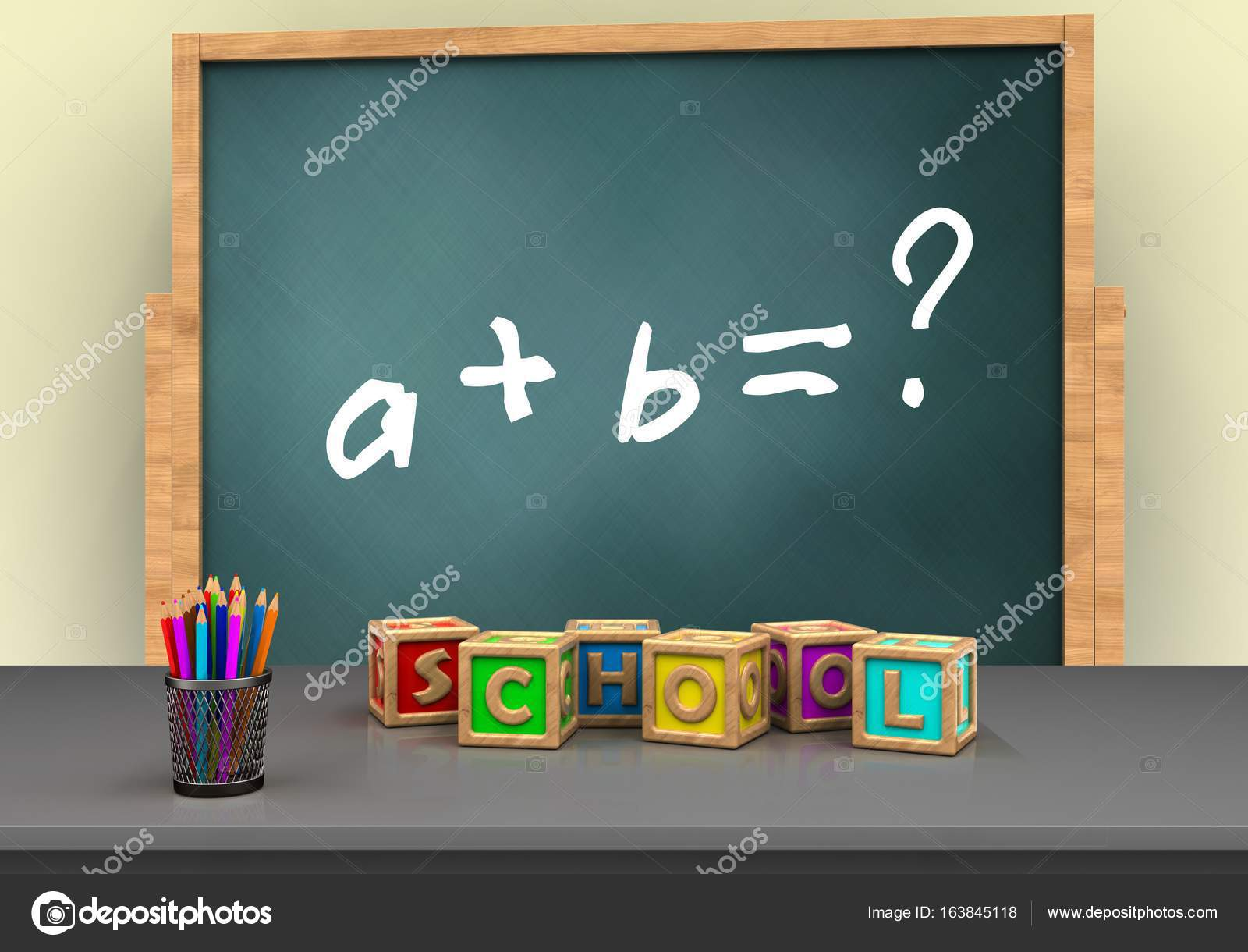 board with math exercise text — Stock Photo © mmaxer #163845118