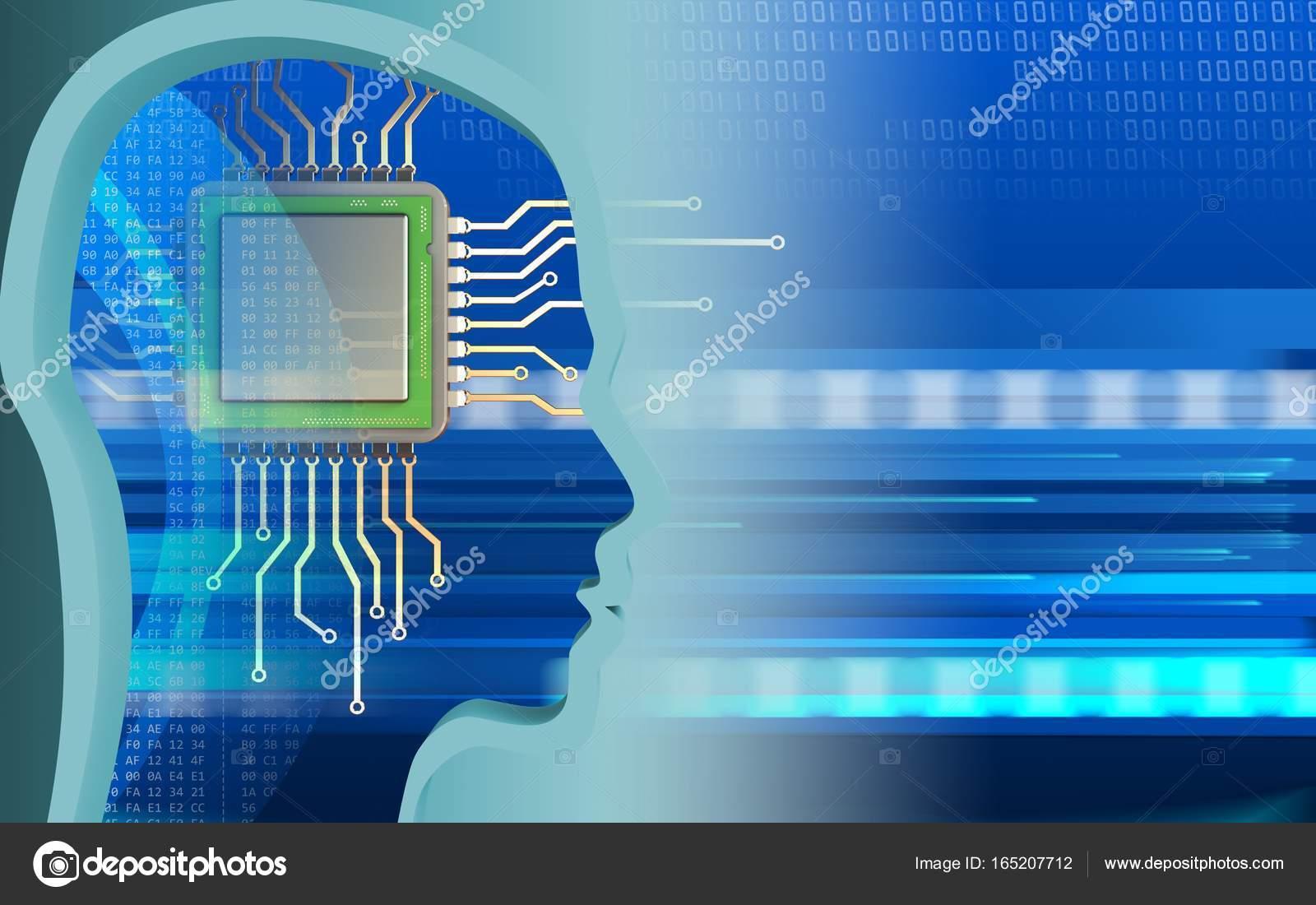 Chip über Cyber Hintergrund   Stockfotografie lizenzfreie Fotos ...
