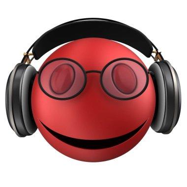 red emoticon smile