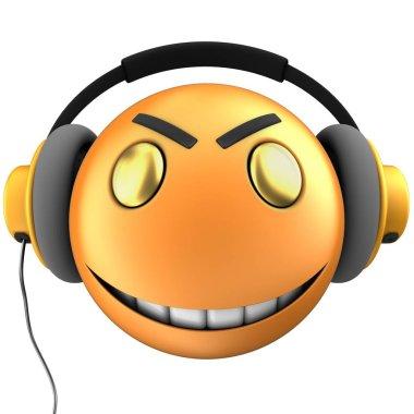 Orange emoticon smile