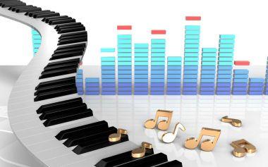 illustration of piano keys