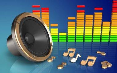 illustration of loud speaker