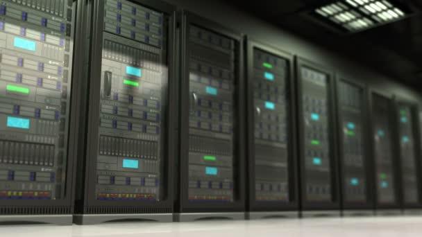 3D-Animation des Kameraschwenks im Serverraum