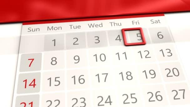 Dias Calendario Del Mes Videos De Stock C Mmaxer 186970276