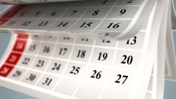 Calendar Days Of The Month