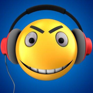 illustration of yellow emoticon smile