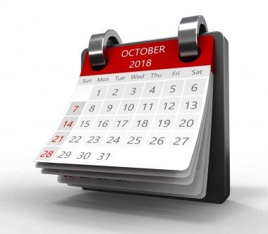 illustration of generic monthly calendar