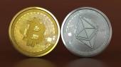 Bitcoin a Ethereum mince