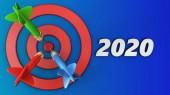 3D cílové kruhy s rokem podepsat