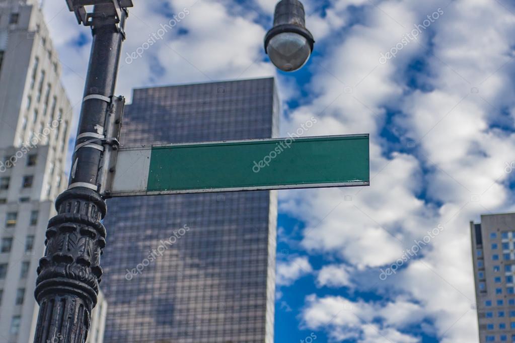 Empty street sign