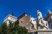 Socha Castor na Piazza del Campidoglio