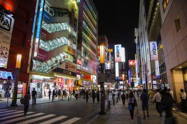 Akihabara district in Tokyo at night