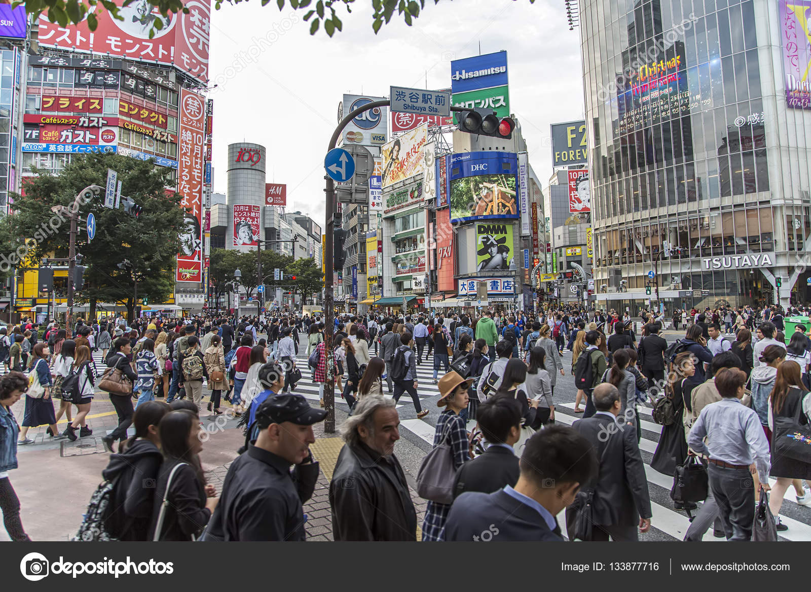 People on the street in Shibuya – Stock Editorial Photo