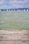 Dock with water surface
