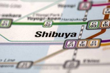 Shibuya metro stations map
