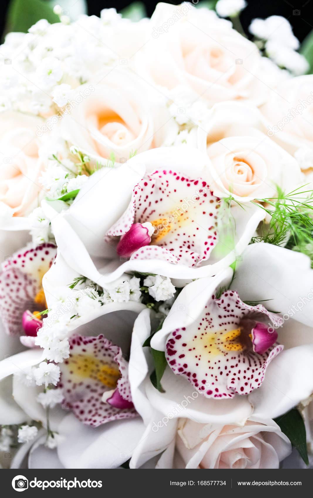 bouquet di rose e orchidee bianche foto stock boggy22 168577734. Black Bedroom Furniture Sets. Home Design Ideas