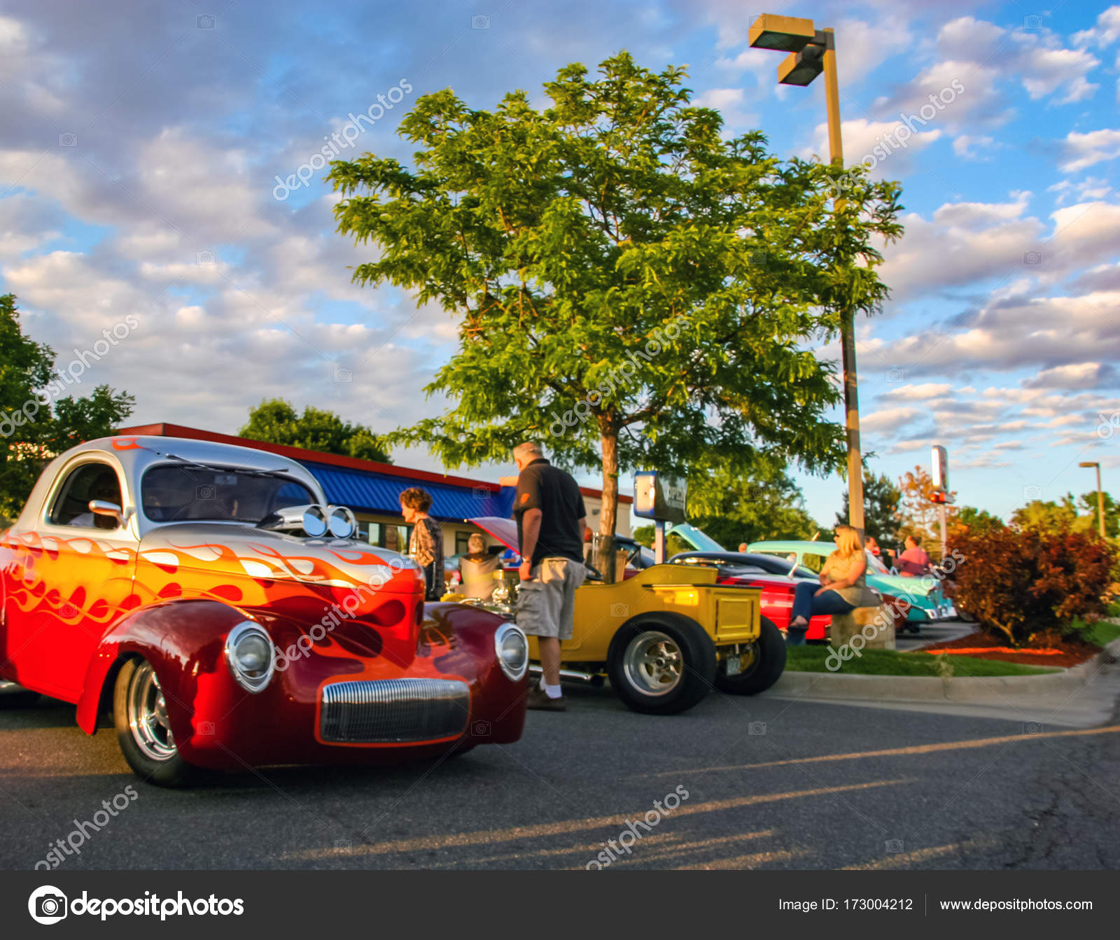 Burger King Classic Car show in Denver – Stock Editorial