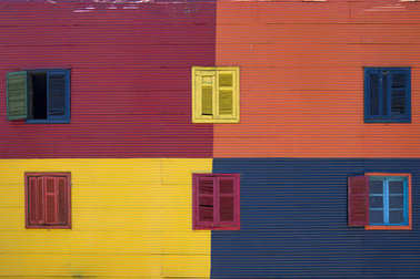 Colorful facade from Caminito in La Boca, Buenos Aires, Argentin