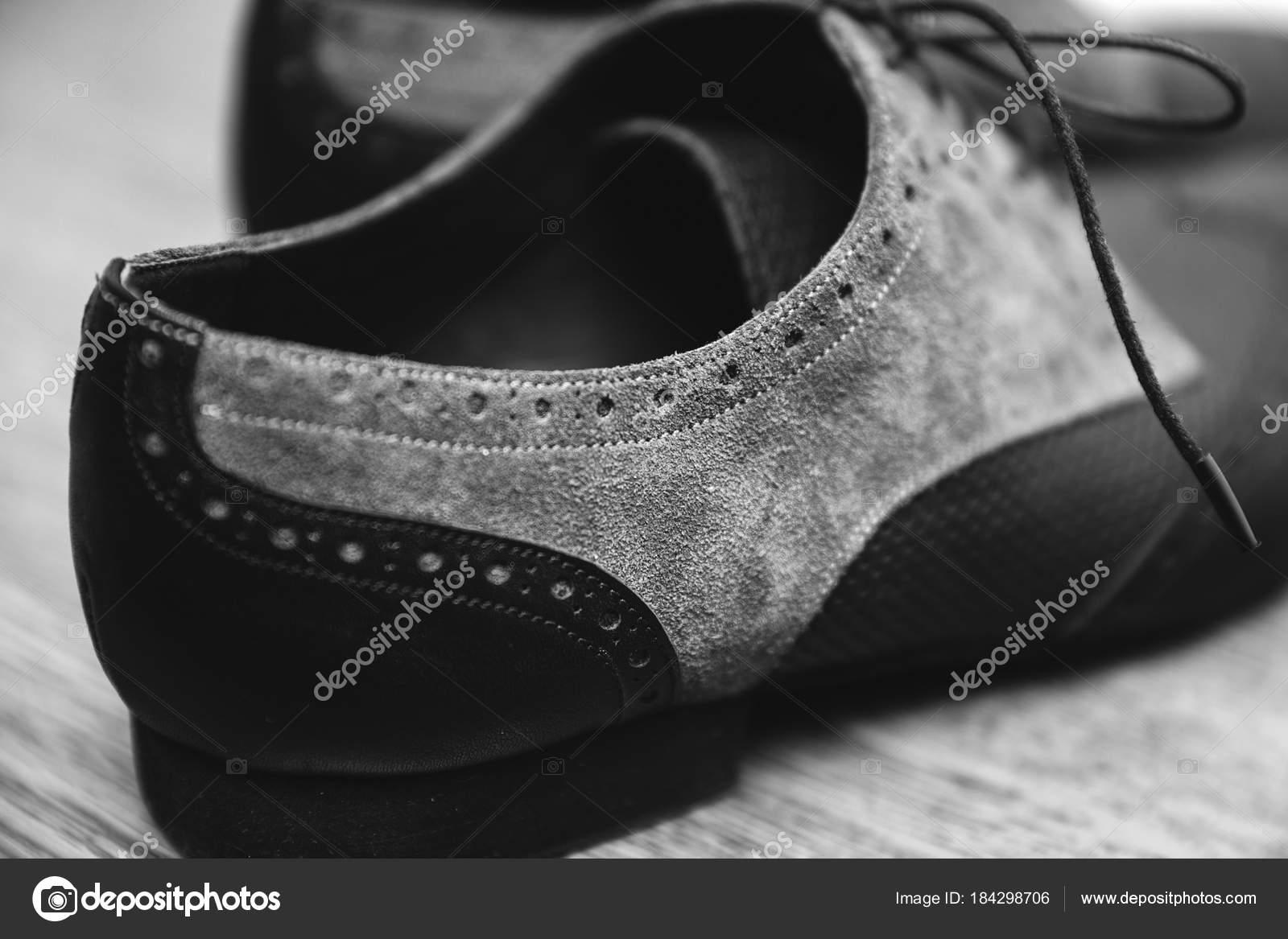 Hombre Tango Plano De Zapatos Foto Primer — Los Detalle Stock BXvq1wI