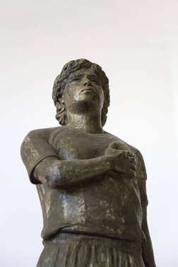 BUENOS AIRES, ARGENTINA - JANUARY 20, 2018: Maradona statue from Museo de la Pasion Boquense in La Boca, Buenos Aires, Argentina. It is museum devoted to the Boca Juniors football club.