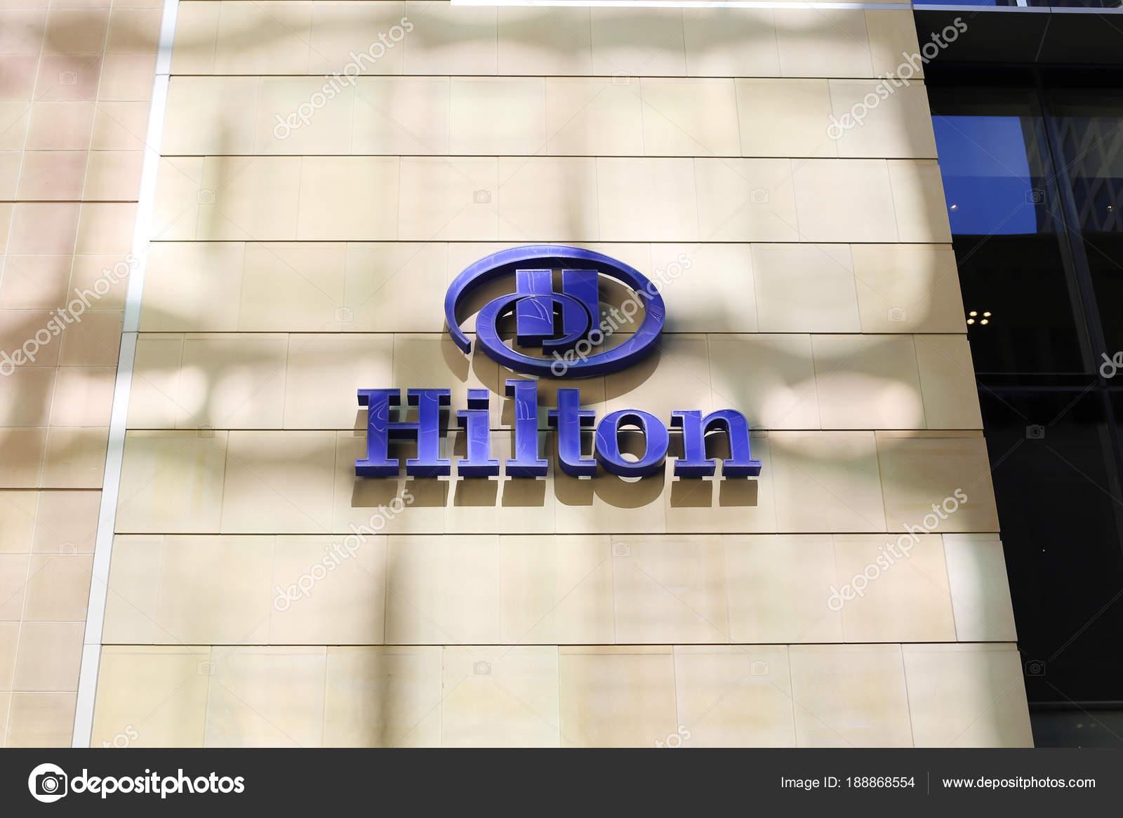 Sydney Australia January 2017 Detail Hilton Hotel Sydney Australia