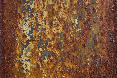 Detail of the old rusty metal background