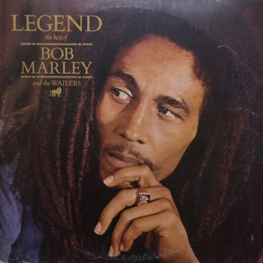 BELGRADE, SERBIA - OCTOBER 23, 2019: Cover of Legend, compilation album by Bob Marley and the Wailers. Album was released in May 1984 by Island Records