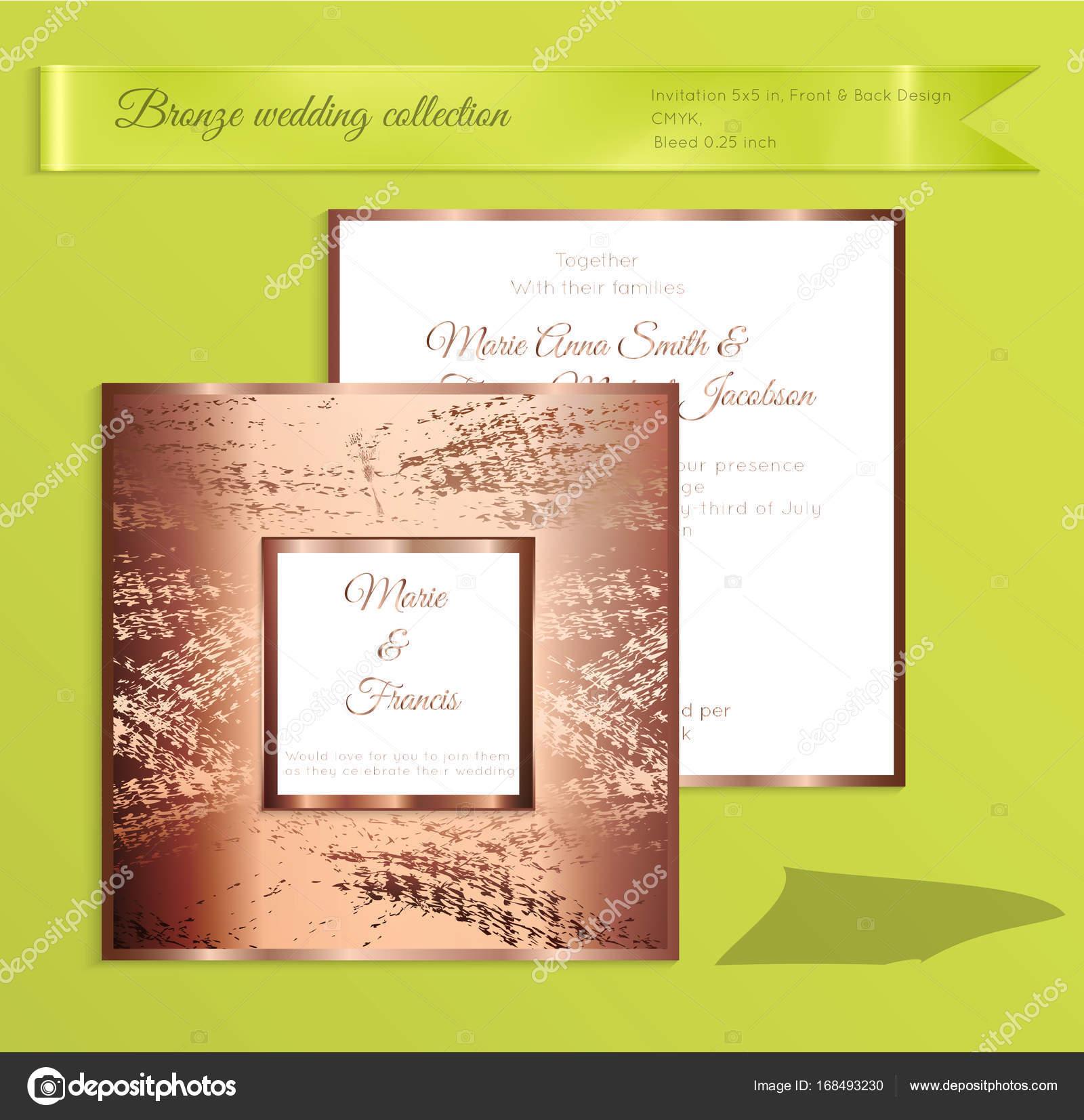 Luxus glänzend Hochzeit Einladung Vorlage — Stockvektor © Zebra ...