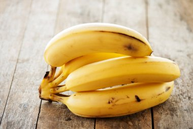 banana bunch on Wooden background
