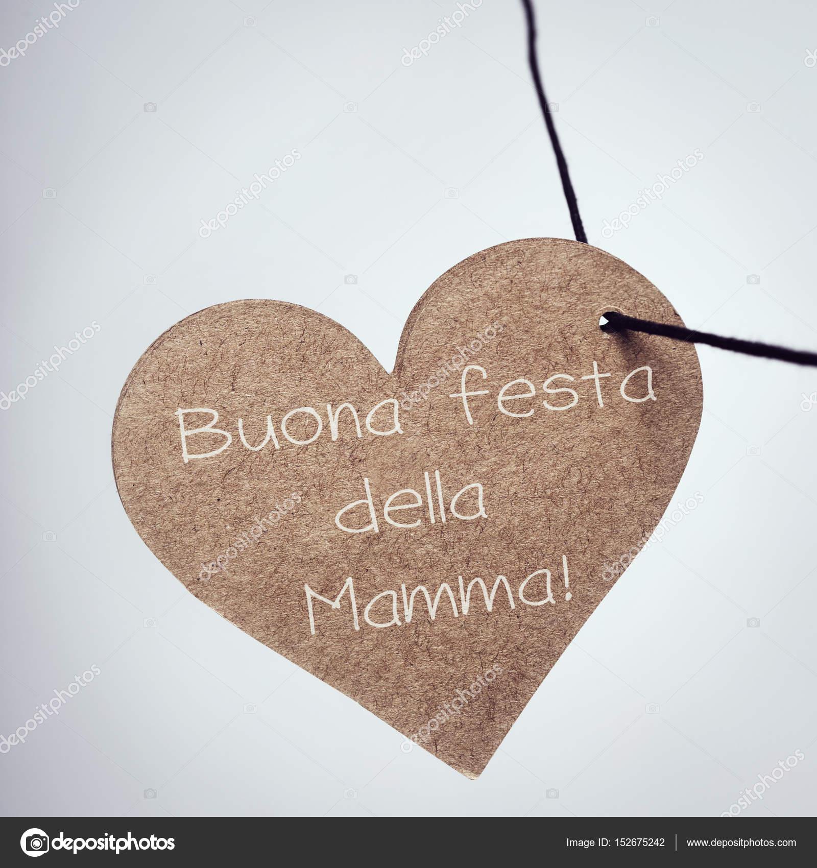 Buona Festa Della Mamma Happy Mothers Day In Italian Stock Photo